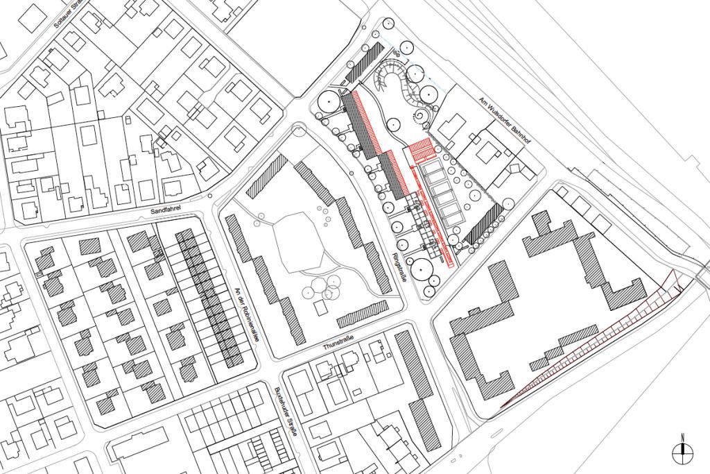 Lageplan des Projektgebiets in Bremerhaven-Wulsdorf